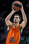 Valencia Basket Alberto Abalde during Turkish Airlines Euroleague match between Real Madrid and Valencia Basket at Wizink Center in Madrid, Spain. December 19, 2017. (ALTERPHOTOS/Borja B.Hojas)