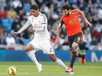 Real Madrid's Raphael Varane (l) and Real Sociedad's Imanol Agirretxe during La Liga match.January 31,2015. (ALTERPHOTOS/Acero) /NortePhoto<br /> /NortePhoto.com