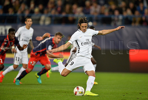 16.09.2016. Caen, France. French Leagie 1 football. Caen versus Paris St Germain.  The penalty is scred by Edinson Cavani (psg)