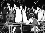 Curtain Call for THE PIRATES OF PENZANCE at the Minskoff Theatre in New York City.<br />Cast features: Kaye Ballard, Maureen McGovern, Rex Smith & Kevin Kline.<br />September 1981