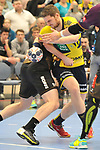 Rhein Neckar Loewe Hendrik Pekeler (Nr.23) versucht sich durch zu setzen beim Spiel in der Handball Champions League, Rhein Neckar Loewen - HBC Nantes.<br /> <br /> Foto &copy; PIX-Sportfotos *** Foto ist honorarpflichtig! *** Auf Anfrage in hoeherer Qualitaet/Aufloesung. Belegexemplar erbeten. Veroeffentlichung ausschliesslich fuer journalistisch-publizistische Zwecke. For editorial use only.