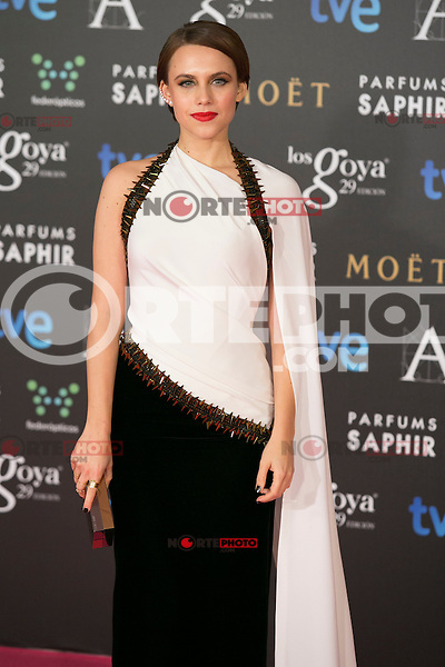 Aura Garrido attend the 2015 Goya Awards at Auditorium Hotel, Madrid,  Spain. February 07, 2015.(ALTERPHOTOS/)Carlos Dafonte) /NORTEphoto.com