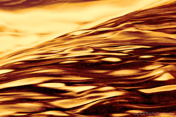 Abstraction of rushing river.