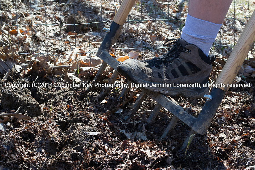 The broadfork is a powerful tool for loosening soil and preparing for planting.