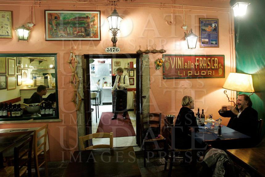 L'osteria Alla Frasca, a Venezia.<br /> Alla Frasca osteria's terrace in Venice.<br /> UPDATE IMAGES PRESS/Riccardo De Luca
