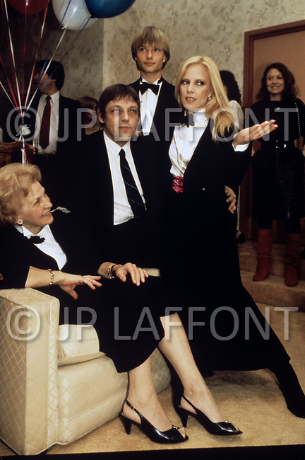 "Las Vegas, U.S.A, December, 1982. French singer Sylvie Vartan at the MGM Hotel. On the left  her mother Ilona Mayer (7 Dec 1914 - 28 June 2007) also known as ""Nene""."