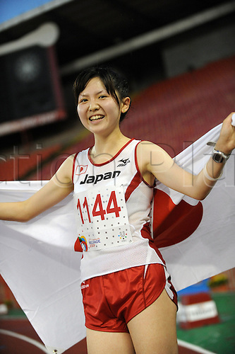 Kasumi Nishihara (JPN), JULY 7, 2009 -  Athletics : Kasumi Nishihara wins the women 10000 meters during The 25th summer Universiade Belgrade 2009 at Belgrade, Serbia. Nishihara's record is 33:14.62.  (Photo: Atsushi Tomura/ActionPlus) Uk Licenses Only