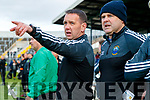 Management John Shannhan, Denis Dwyer during the Semi finals of the Kerry Senior GAA Football Championship between Dr Crokes and South Kerry at Fitzgerald Stadium on Sunday.