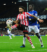 Lincoln City's Bruno Andrade vies for possession with Everton's Idrissa Gueye<br /> <br /> Photographer Chris Vaughan/CameraSport<br /> <br /> Emirates FA Cup Third Round - Everton v Lincoln City - Saturday 5th January 2019 - Goodison Park - Liverpool<br />  <br /> World Copyright &copy; 2019 CameraSport. All rights reserved. 43 Linden Ave. Countesthorpe. Leicester. England. LE8 5PG - Tel: +44 (0) 116 277 4147 - admin@camerasport.com - www.camerasport.com