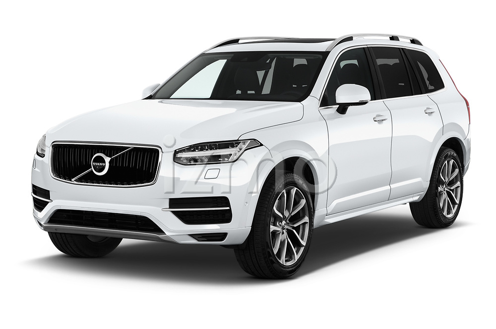 2017 Volvo XC90 Momentum 5 Door SUV Angular Front stock photos of front three quarter view