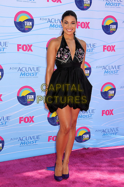 Jordin Sparks.FOX's 2012 Teen Choice Awards held at The Gibson Ampitheatre in Universal City, California, USA..July 22nd, 2012.full length black halterneck pink floral print dress .CAP/ADM/BP.©Byron Purvis/AdMedia/Capital Pictures.