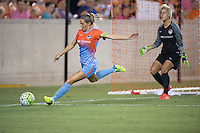 Houston, TX - Saturday July 16, 2016: Kealia Ohai during a regular season National Women's Soccer League (NWSL) match between the Houston Dash and the Portland Thorns FC at BBVA Compass Stadium.