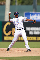 New York Mets minor league third baseman Jefry Marte (7) during a game vs. the Minnesota Twins in an Instructional League game at City of Palms Park in Fort Myers, Florida;  October 4, 2010.  Photo By Mike Janes/Four Seam Images