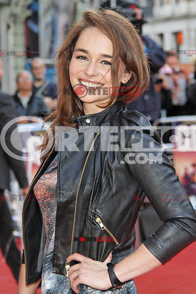 LONDON - JUNE 07: Emilia Clarke attends the World Film Premiere of 'Fast Girls' at the Odeon West End, Leicester Square, London, UK. June 07, 2012. (Photo by Richard Goldschmidt)