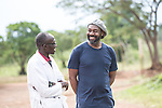 Comic relief 2015 Lenny Henry visit <br /> <br /> <br /> lent and francis the doctor