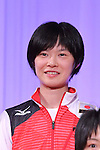 Haruka Miyashita (JPN), <br /> JULY 20, 2016 - Volleyball : <br /> Japan women's national volleyball team send-off party <br /> for the Rio 2016 Olympic Games in Tokyo, Japan. <br /> (Photo by AFLO SPORT)