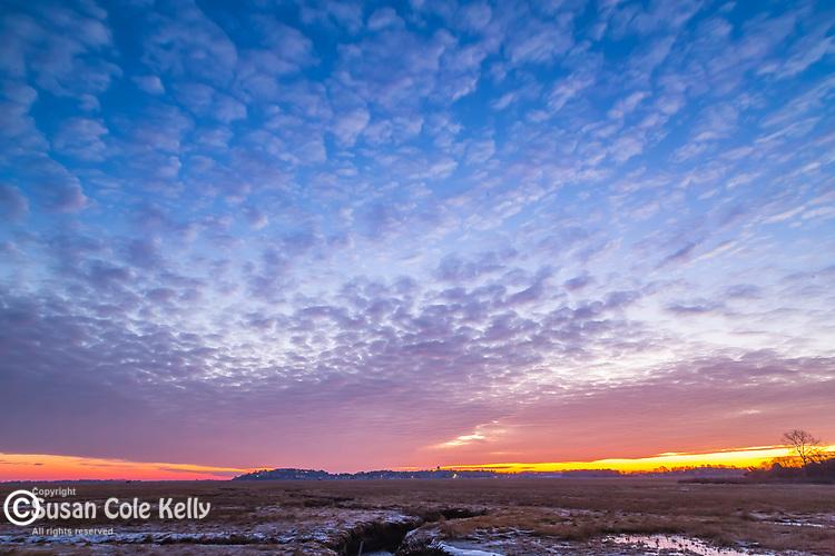 Great Marsh sunrise in Ipswich, Massachusetts, USA