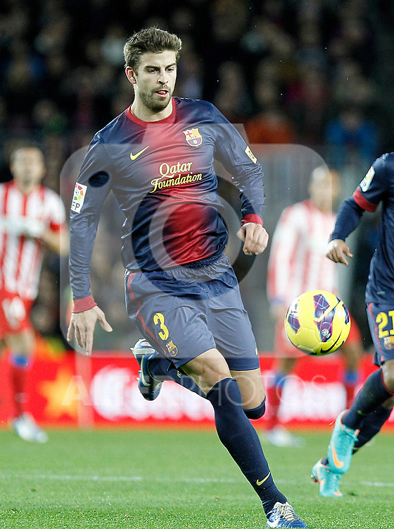 FC Barcelona's Gerard Pique during La Liga match.December 16,2012. (ALTERPHOTOS/Acero)