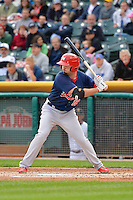 Scott Moore (12) of the Memphis Redbirds at bat against the Salt Lake Bees at Smith's Ballpark on June 18, 2014 in Salt Lake City, Utah.  (Stephen Smith/Four Seam Images)