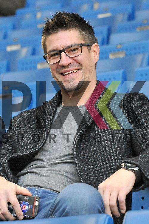 Jochen Hecht (ehemaliger NHL Spieler) beim Spiel der TSG 1899 Hoffenheim - Hertha BSC.<br /> <br /> Foto &copy; PIX-Sportfotos *** Foto ist honorarpflichtig! *** Auf Anfrage in hoeherer Qualitaet/Aufloesung. Belegexemplar erbeten. Veroeffentlichung ausschliesslich fuer journalistisch-publizistische Zwecke. For editorial use only.