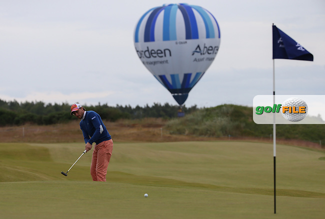 Benjamin Hebert (FRA) putts on the 13th during Round Three of the 2016 Aberdeen Asset Management Scottish Open, played at Castle Stuart Golf Club, Inverness, Scotland. 09/07/2016. Picture: David Lloyd | Golffile.<br /> <br /> All photos usage must carry mandatory copyright credit (&copy; Golffile | David Lloyd)