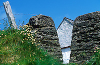 Rustic, stone gate to an Irish farmhouse, Ireland