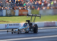 Jun 10, 2017; Englishtown , NJ, USA; NHRA top fuel driver Dom Lagana during qualifying for the Summernationals at Old Bridge Township Raceway Park. Mandatory Credit: Mark J. Rebilas-USA TODAY Sports