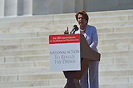 August 24, 2013  (Washington, DC)   Rep. Nancy Pelosi speaks to a crowd of thousands on the grounds of the Lincoln Memorial in the District of Columbia during the 50th anniversary of the 1963 March on Washington August 24, 2013.  (Photo by Don Baxter/Media Images International)