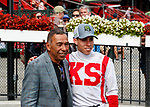 Irad Ortiz is honored as he wins the Angel Cordero riding title for the 2018 Saratoga meet.   (Bruce Dudek/Eclipse Sportswire)