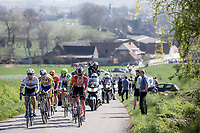 Mihkel Raïm (EST/Israel Cycling Academy) leading the early breakaway group up the Knokteberg, <br /> <br /> 62nd E3 Harelbeke 2019 (1.UWT)<br /> Harelbeke – Harelbeke: 203,9km<br /> ©kramon