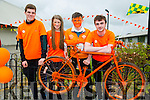 Joe Hoare,Sinead Ryan,Chris Keane and Evan Doody at the Cycle against suicide Mercy Mounthawk School Welcome on Sunday
