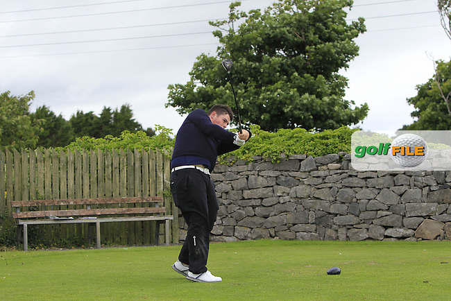 Conor Byrne (Bishops Gate) on the 1st tee during R2 of the 2016 Connacht U18 Boys Open, played at Galway Golf Club, Galway, Galway, Ireland. 06/07/2016. <br /> Picture: Thos Caffrey | Golffile<br /> <br /> All photos usage must carry mandatory copyright credit   (&copy; Golffile | Thos Caffrey)