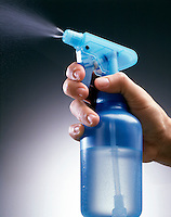 TRANSPARENT PUMP SPRAY BOTTLE - In Use (2 of 2)<br />