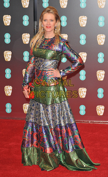 Edith Bowman at the EE British Academy Film Awards (BAFTAs) 2017, Royal Albert Hall, Kensington Gore, London, England, UK, on Sunday 12 February 2017.<br /> CAP/CAN<br /> &copy;CAN/Capital Pictures