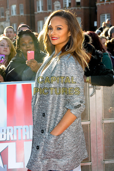 LONDON, ENGLAND - FEBRUARY 11: Alesha Dixon attends Britain's Got Talent London Auditions in Hammersmith on February 11, 2014 in London, England. <br /> CAP/CJ<br /> &copy;Chris Joseph/Capital Pictures