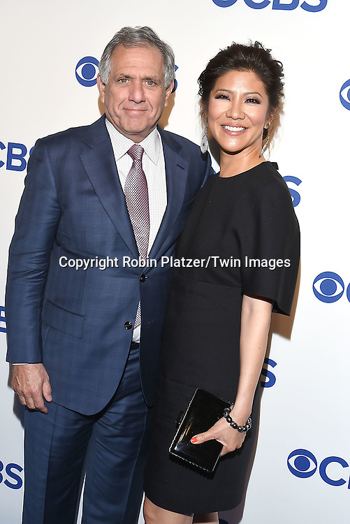 Leslie Moonves and wife Julie Chen attend the CBS Upfront 2016-2017 on May 18, 2016 at the Oak Room at the Plaza Hotel in New Yorik, New York, USA.<br /> <br /> photo by Robin Platzer/Twin Images<br />  <br /> phone number 212-935-0770
