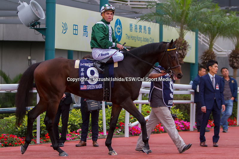 DEC 13,2015: Green Mask and Joel Rosario (Hong Kong Sprint) at Sha Tin in New Territories,Hong Kong. Kazushi Ishida/ESW/CSM