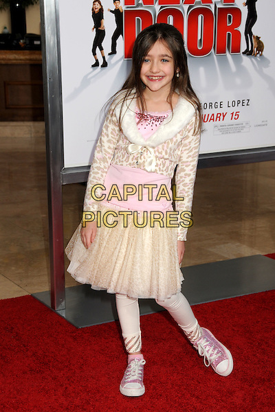 "ASHLEY BOETTCHER.""The Spy Next Door"" Los Angeles Premiere held at The Grove,  Los Angeles, California, USA, .9th January 2010..full length pink trainers converse fur collar animal print skirt gold cardigan beige  .CAP/ADM/BP.©Byron Purvis/Admedia/Capital Pictures"