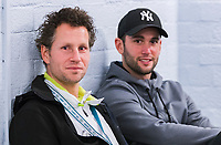 Rotterdam, Netherlands, 10 februari, 2018, Ahoy, Tennis, ABNAMROWTT, Supermatch dubbelen: Jasper Smit (NED) (L) and Jesse Timmermans (NED)<br /> Photo: Henk Koster/tennisimages.com