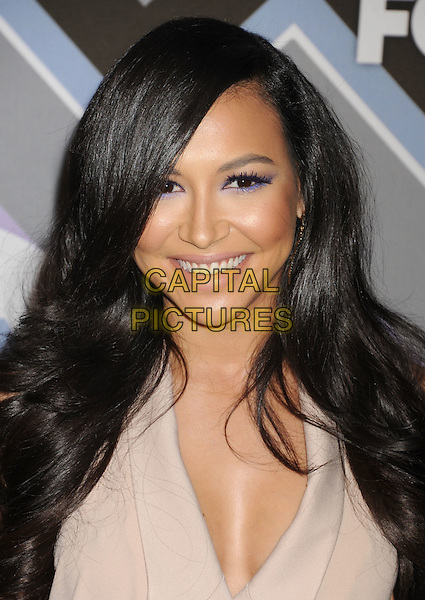 Naya Rivera.arriving at the 2013 TCA Winter Press Tour - FOX All-Star Party at The Langham Huntington Hotel and Spa in Pasadena, California, USA, .January 8th, 2013.   .portrait headshot smiling purple eyeshadow make-up beauty  beige.CAP/ROT/TM.©Tony Michaels/Roth Stock/Capital Pictures