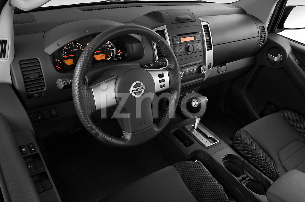 High angle dashboard view of a 2009 Nissan Xterra Off Road