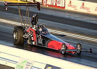 Feb 11, 2016; Pomona, CA, USA; NHRA top alcohol dragster driver Gord Gingles during qualifying for the Winternationals at Auto Club Raceway at Pomona. Mandatory Credit: Mark J. Rebilas-USA TODAY Sports