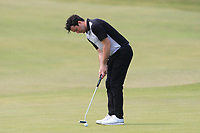 Gerard Dunne (Co. Louth) on the 11th green during Round 4 of the East of Ireland Amateur Open Championship 2018 at Co. Louth Golf Club, Baltray, Co. Louth on Monday 4th June 2018.<br /> Picture:  Thos Caffrey / Golffile<br /> <br /> All photo usage must carry mandatory copyright credit (&copy; Golffile | Thos Caffrey)