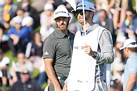 Dustin Johnson (USA) In action during the final round of the The Genesis Invitational, Riviera Country Club, Pacific Palisades, Los Angeles, USA. 15/02/2020<br /> Picture: Golffile | Phil Inglis<br /> <br /> <br /> All photo usage must carry mandatory copyright credit (© Golffile | Phil Inglis)