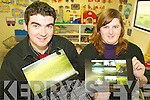 CALENDAR: With the new calendar which has been launched in aid of Keel Childcare Centre Brendan Griffin, whose pictures feature in the calendar, and Joanne O'Connor, manager of Keel Childcare Centre.   Copyright Kerry's Eye 2008