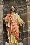 Mexico, Baja California Sur, San Ignacio, Mission San Ignacio Kadakaanman, Statue of Jesus
