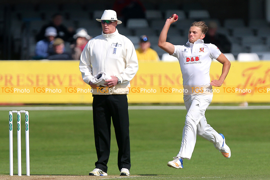 Aaron Beard in bowling action for Essex during Essex CCC vs Durham MCCU, English MCC University Match Cricket at The Cloudfm County Ground on 3rd April 2017