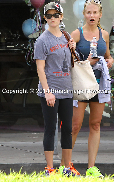 Pictured: Reese Witherspoon<br /> Mandatory Credit &copy; Ben Foster/Broadimage<br /> Reese Witherspoon leaving Yoga Classes in Brentwood<br /> <br /> 3/7/14, Brentwood, California, United States of America<br /> <br /> Broadimage Newswire<br /> Los Angeles 1+  (310) 301-1027<br /> New York      1+  (646) 827-9134<br /> sales@broadimage.com<br /> http://www.broadimage.com<br /> <br /> <br /> Pictured: Reese Witherspoon<br /> Mandatory Credit &copy; Ben Foster/Broadimage<br /> Reese Witherspoon leaving Yoga Classes in Brentwood<br /> <br /> 3/7/14, Brentwood, California, United States of America<br /> Reference: 030714_HDLA_BDG_001<br /> <br /> Broadimage Newswire<br /> Los Angeles 1+  (310) 301-1027<br /> New York      1+  (646) 827-9134<br /> sales@broadimage.com<br /> http://www.broadimage.com