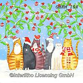 Kate, CHRISTMAS ANIMALS, WEIHNACHTEN TIERE, NAVIDAD ANIMALES, paintings+++++Chirpy Christmas cats,GBKM104,#xa# ,cat,cats