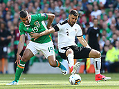 June 11th 2017, Dublin, Republic Ireland; 2018 World Cup qualifier, Republic of Ireland versus Austria;  Jonathan Walters of Ireland battles for the  ball with Aleksander Dragovic of Austria